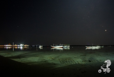 Karimunjawa port by night.