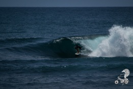 Surfing at Watukarung.